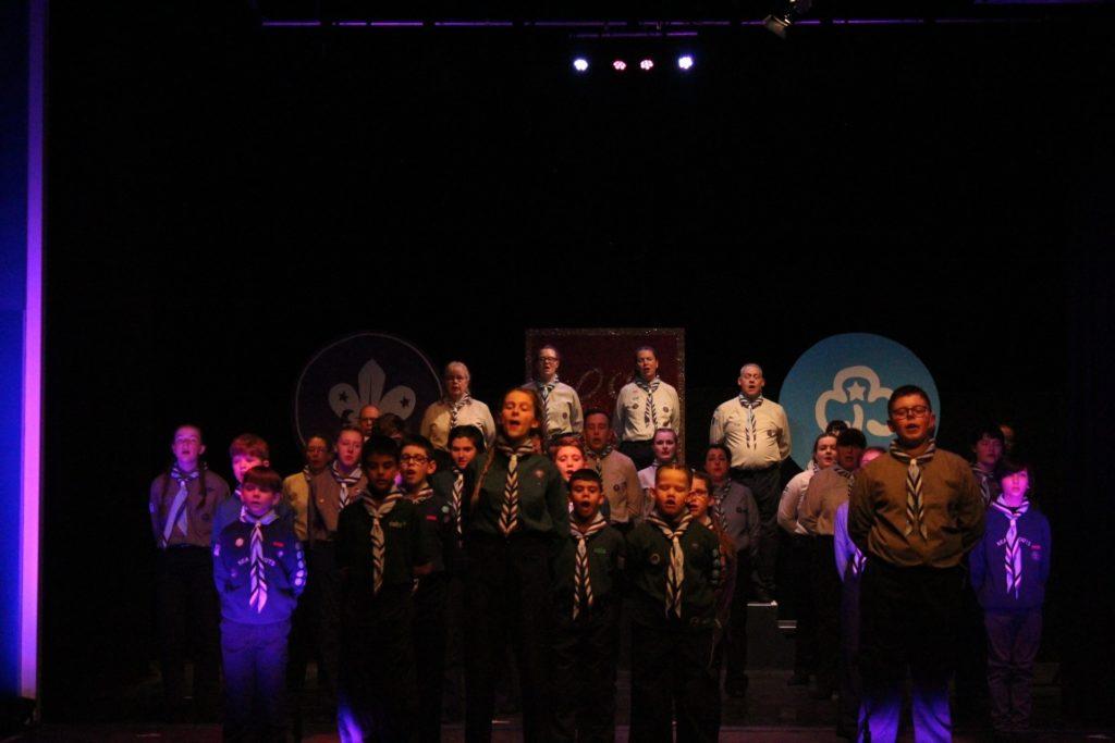 gang show cast in scout uniform